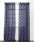 Argos Grommet Top Curtain Panel - Indigo