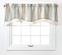 Maxton Layered Lined Valance - Spa from Belle Maison