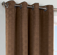 Irongate Grommet Top Curtain Panel - Chocolate