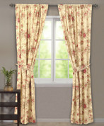Antique Rose curtain pair from Greenland
