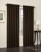 Althea Blackout Rod Pocket Curtains - chocolate brown from Lichtenberg Sun Zero