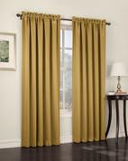 Althea Blackout Rod Pocket Curtains - Gold from Lichtenberg Sun Zero