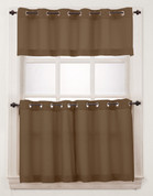 Montego Grommet Top Curtains - Mocha