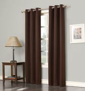 Gareth Sun Zero Blackout Grommet Top Curtain - Chocolate