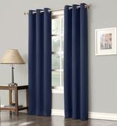 Gareth Sun Zero Blackout Grommet Top Curtain - Navy Blue