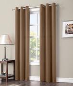 Gareth Sun Zero Blackout Grommet Top Curtain - Taupe