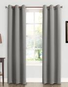 Kingsley Sun Zero Room Darkening Grommet Top Curtain - Grey
