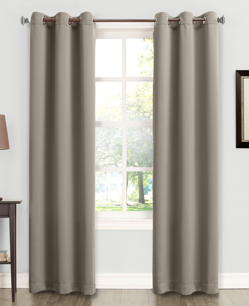 Kingsley Sun Zero Room Darkening Grommet Top Curtain