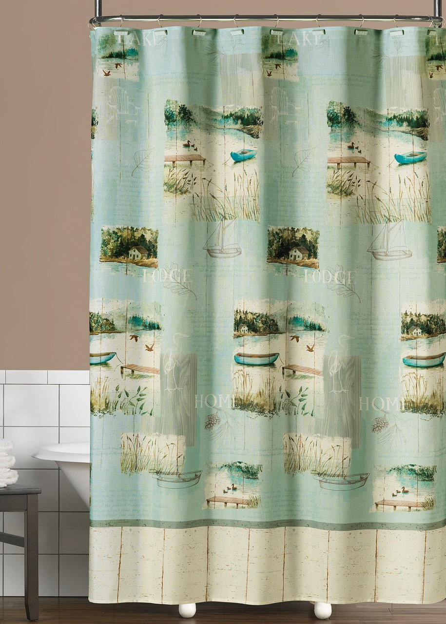 Lake Retreat Shower Curtain Amp Bathroom Accessories