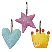 Fairy Princess Shower Curtain hooks from Creative Bath (set of 12)