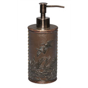 Rustic Montage lotion dispenser from Creative Bath