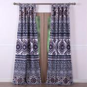 Medina Saffron tab top curtain pair from Greenland