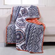 Medina saffron Throw Blanket