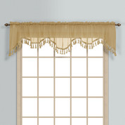 Monte Carlo Sheer fringed scalloped valance - Bronze (2 shown in picture)