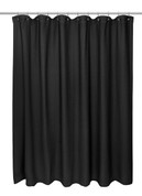 Waffle Weave Cotton Shower Curtain - Black