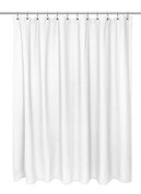 Waffle Weave Cotton Shower Curtain - White