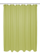 Chevron Weave Cotton Shower Curtain - Citron