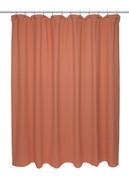 Chevron Weave Cotton Shower Curtain - Burnt Orange