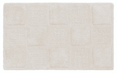 Waffle Weave Cotton Bath Rug - White