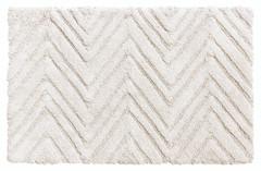Chevron Weave Cotton Bath Rug - White