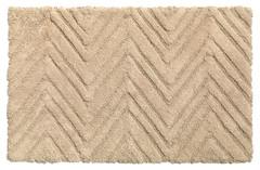 Chevron Weave Cotton Bath Rug - Linen
