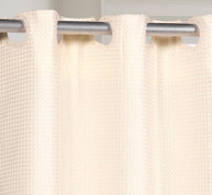 PreHooked Waffle Weave Shower Curtain - Ivory