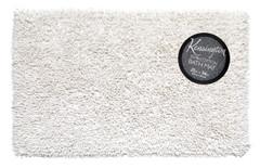 Shaggy Cotton Bath Rug - White
