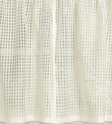 """Gridwork 24"""" kitchen curtain tier - Cream"""