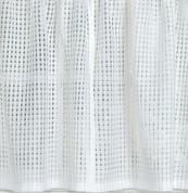 """Gridwork 36"""" kitchen curtain tier - White"""