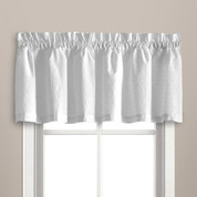 Dorothy swiss dot kitchen curtain valance - White