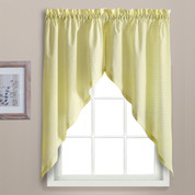 Dorothy swiss dot kitchen curtain swag - Yellow