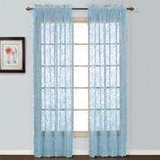 Windsor Lace Rod Pocket Curtain Panel - Blue (2 shown)