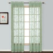Windsor Lace Sage Green (2) Rod Pocket Curtain Panels