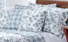 Botanica Reversible Quilted Pillow Sham - Mist