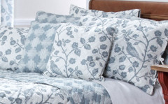 Botanica Reversible Quilted Throw Pillow - Mist
