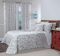 Botanica Reversible Quilted Bedspreads - Stone
