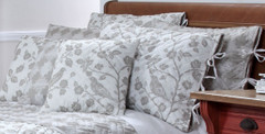 Botanica Reversible Quilted Throw Pillow - Stone