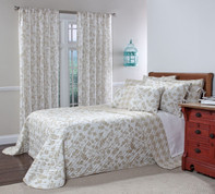 Botanica Reversible Quilted Bedspreads - Wheat