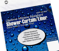 "Extra Heavy Vinyl Shower Curtain Liner - 36"" wide x 72"" long"