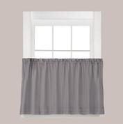 """Holden 24"""" kitchen curtain tier - Grey"""