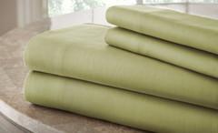 200 Thread Count Solid Sheet Set 100% cotton - Sage