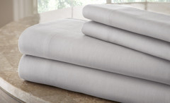 200 Thread Count Solid Sheet Set 100% cotton - Silver