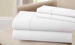 400 Thread Count Single Hole Hem Sheet Set 100% cotton - White