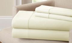400 Thread Count Single Hole Hem Sheet Set 100% cotton - Ivory
