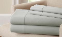 400 Thread Count Single Hole Hem Sheet Set 100% cotton - Silver