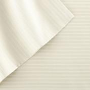 400 Thread Count Pinstripe Sheet Set 100% tencel - Ivory