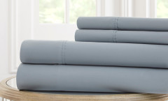 600 Thread Count Solid Sheet Set 100% cotton - Dusty Blue