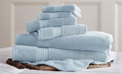 Luxury Spa Collection 6 piece towel SET - Light Blue