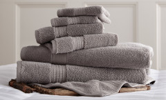 Luxury Spa Collection 6 piece towel SET - Charcoal