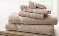 Bamboo Collection 6 piece towel SET - Taupe